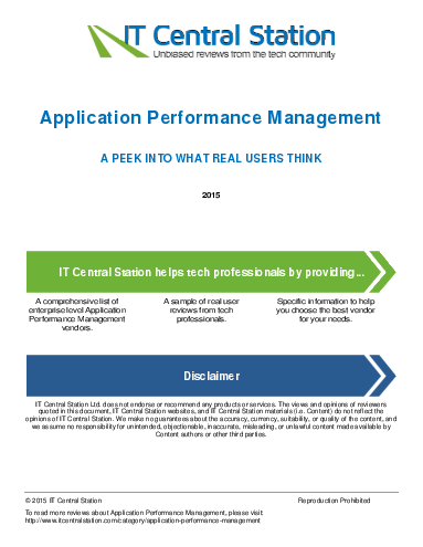Application performance management report from it central station 2015 04 16t55