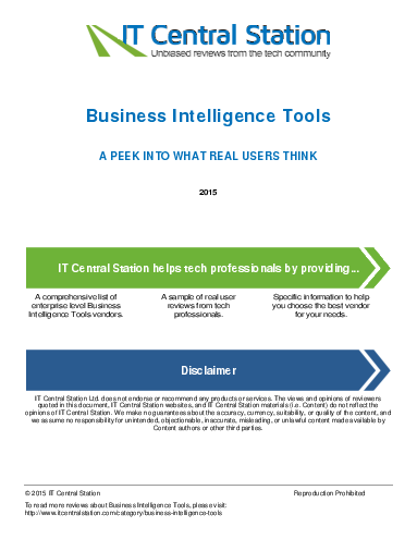 Business intelligence tools report from it central station 2015 04 16t55
