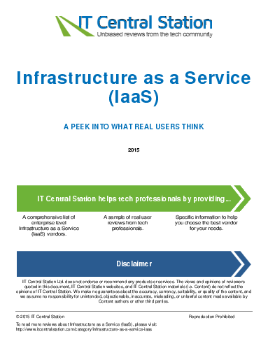 Infrastructure as a service  iaas  report from it central station 2015 10 12g43