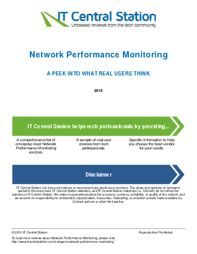 Network performance monitoring report from it central station 2015 04 16t55
