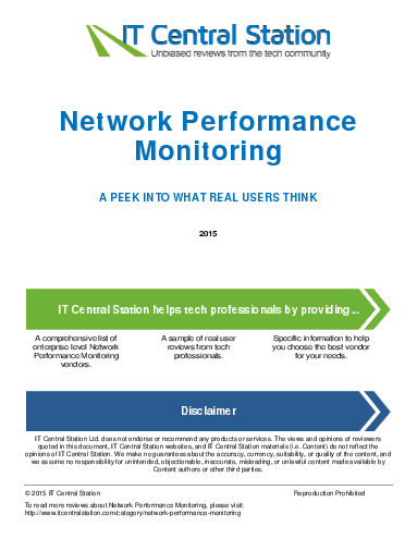 Network performance monitoring report from it central station 2015 07 04e5