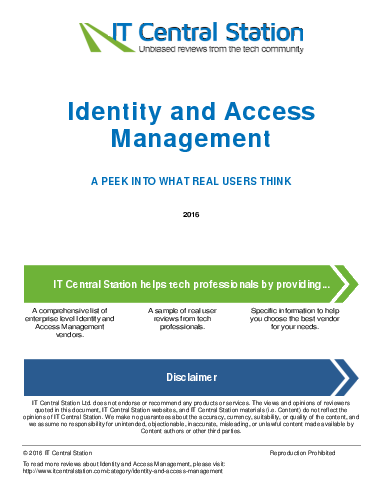 Identity and access management report from it central station 2016 02 01