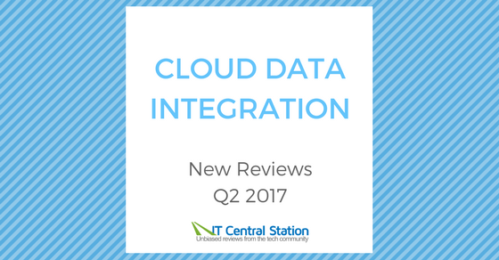 Cloud Data Integration Reviews Q2 2017