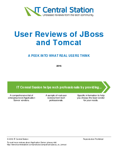 Jboss vs. tomcat report from it central station 2016 09 04