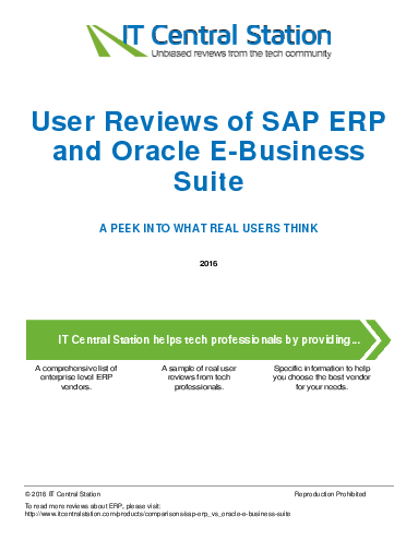 Oracle E-Business Suite - Compare Reviews, Features ...