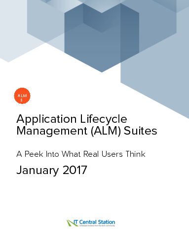 Application lifecycle management %28alm%29 suites report from it central station 2017 01 14