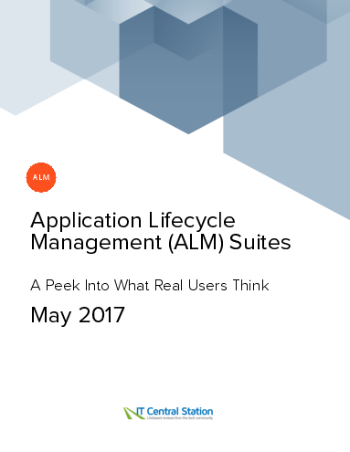 Application lifecycle management %28alm%29 suites report from it central station 2017 05 27