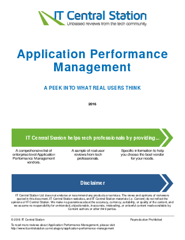 Application performance management report from it central station 2016 05 07q18