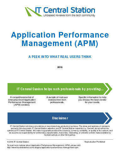 Application performance management  apm  report from it central station 2016 08 13o59