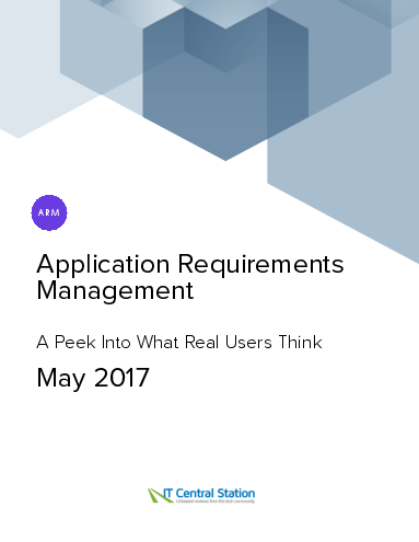 Application requirements management report from it central station 2017 05 13