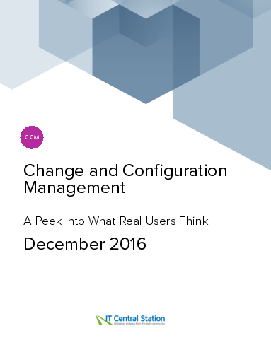 Change and configuration management report from it central station 2016 12 18