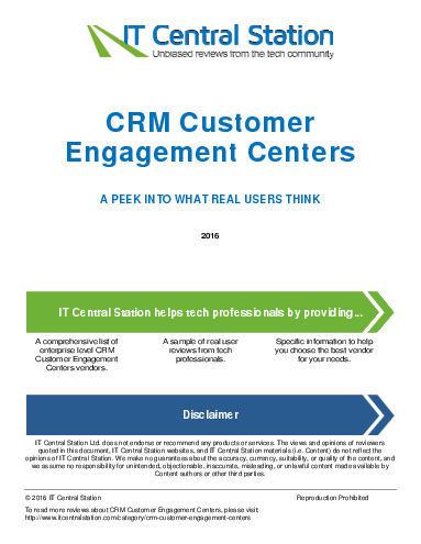 Crm customer engagement centers report from it central station 2016 04 23q22