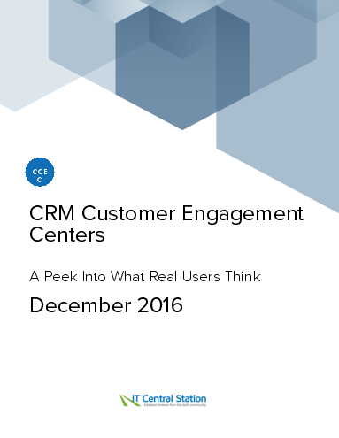 Crm customer engagement centers report from it central station 2016 12 18