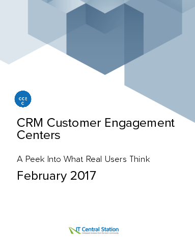 Crm customer engagement centers report from it central station 2017 02 11