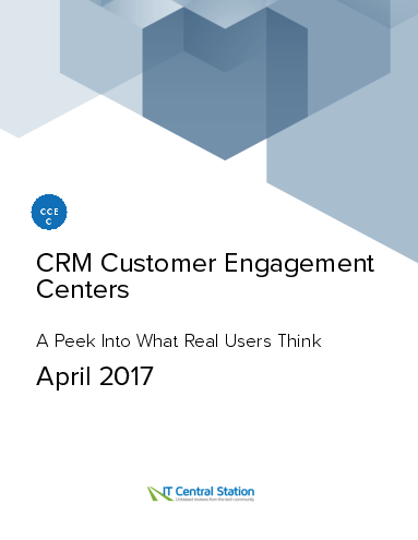 Crm customer engagement centers report from it central station 2017 04 22