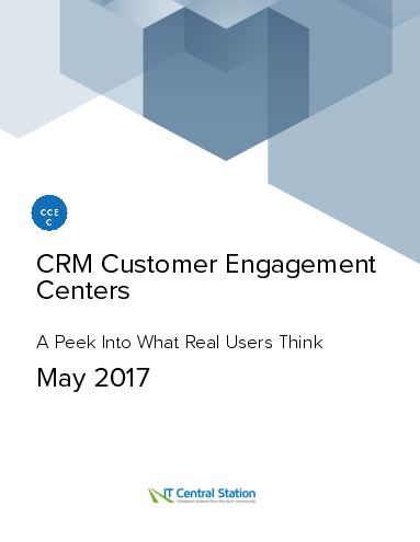 Crm customer engagement centers report from it central station 2017 05 27