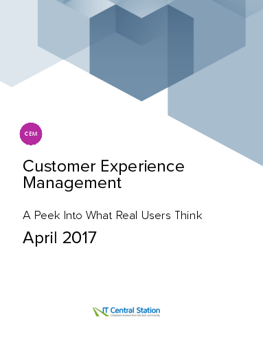 Customer experience management report from it central station 2017 04 22