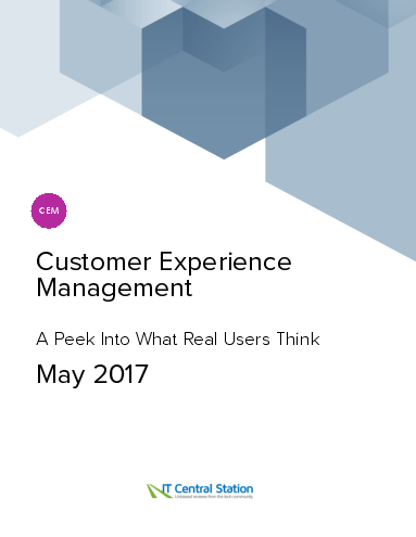 Customer experience management report from it central station 2017 05 27