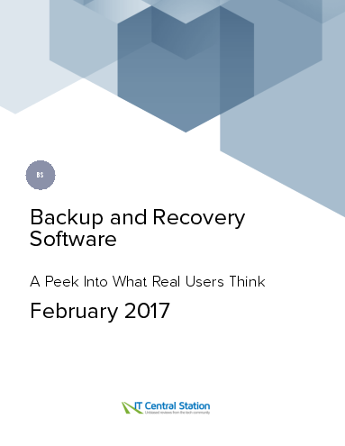 Backup and recovery software report from it central station 2017 02 04