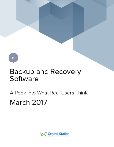 Backup and recovery software report from it central station 2017 03 18