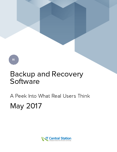 Backup and recovery software report from it central station 2017 05 06