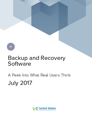 Backup and recovery software report from it central station 2017 07 15 thumbnail