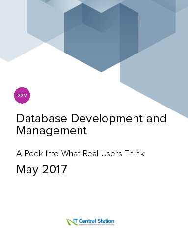 Database development and management report from it central station 2017 05 27
