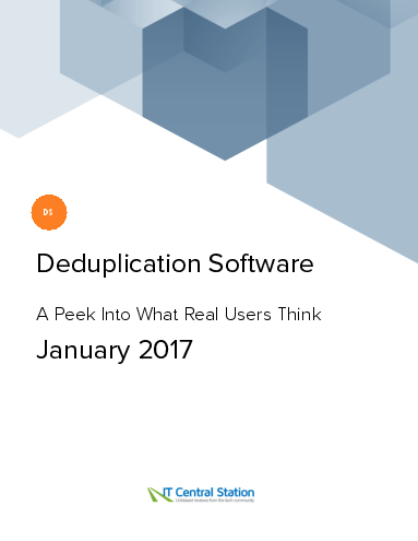 Deduplication software report from it central station 2017 01 21
