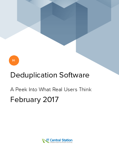Deduplication software report from it central station 2017 02 25
