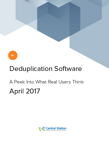 Deduplication software report from it central station 2017 04 01