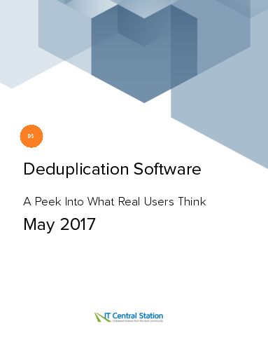 Deduplication software report from it central station 2017 05 20