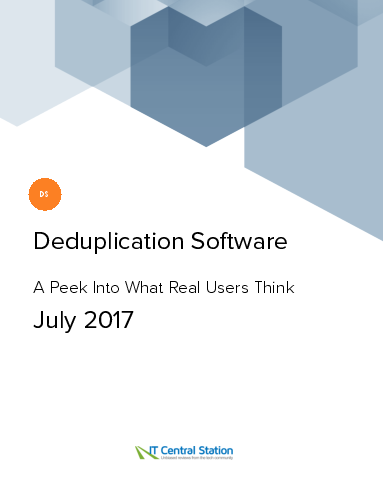 Deduplication software report from it central station 2017 07 29 thumbnail