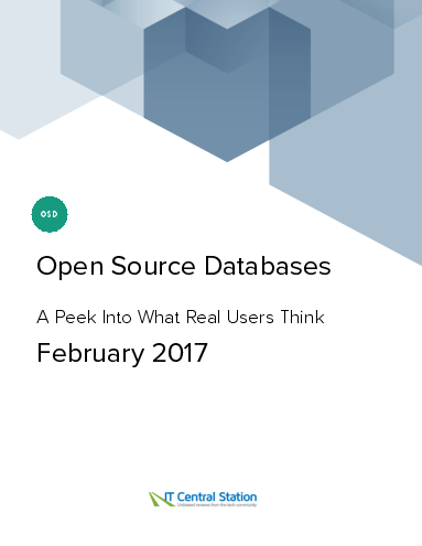 Open source databases report from it central station 2017 02 11