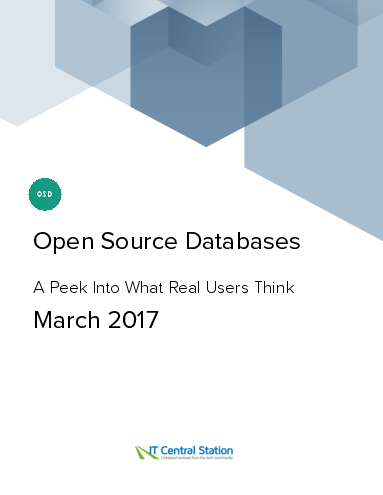 Open source databases report from it central station 2017 03 18