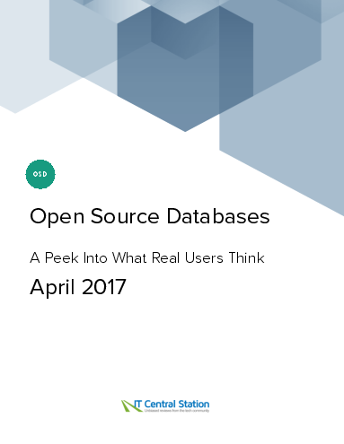 Open source databases report from it central station 2017 04 22