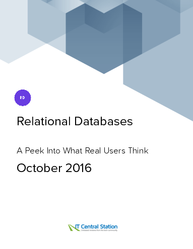Relational databases report from it central station 2016 10 22