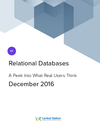 Relational databases report from it central station 2016 12 18