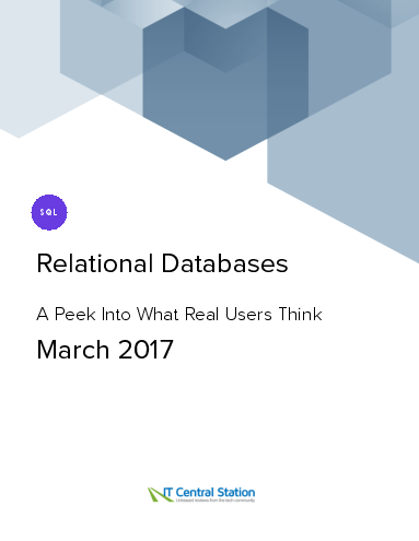 Relational databases report from it central station 2017 03 18