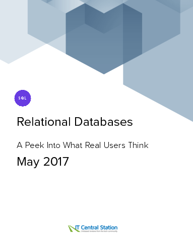 Relational databases report from it central station 2017 05 27