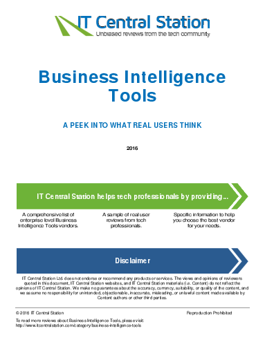 Business intelligence tools report from it central station 2016 04 30q10