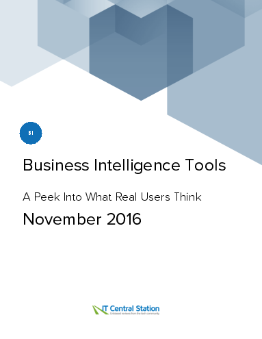 Business intelligence tools report from it central station 2016 11 26