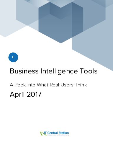 Business intelligence tools report from it central station 2017 04 08