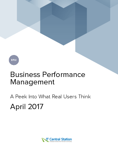 Business performance management report from it central station 2017 04 22