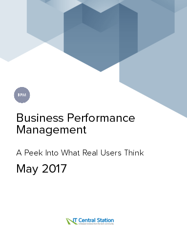 Business performance management report from it central station 2017 05 27