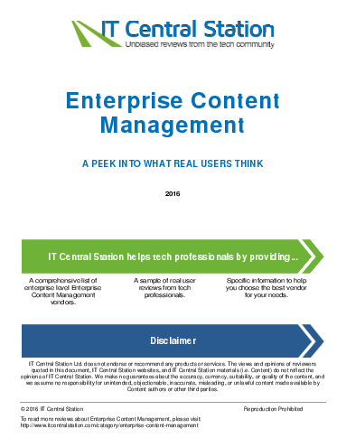 Enterprise content management report from it central station 2016 06 20