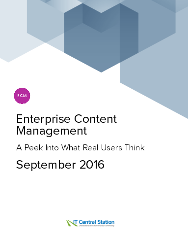 Enterprise content management report from it central station 2016 09 29