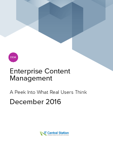 Enterprise content management report from it central station 2016 12 18