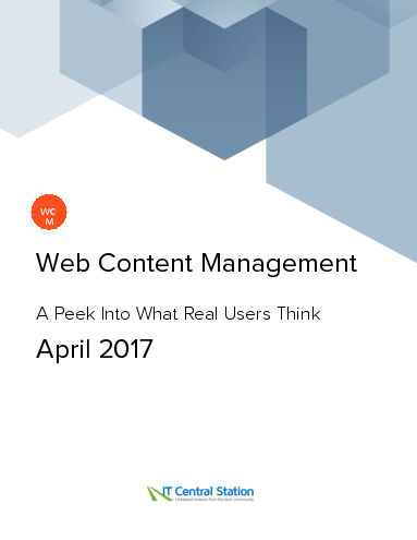 Web content management report from it central station 2017 04 22