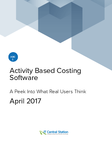 Activity based costing software report from it central station 2017 04 22