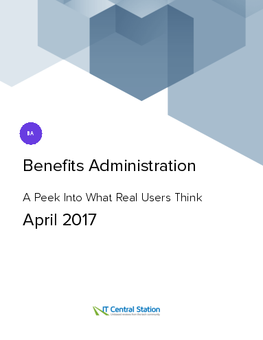 Benefits administration report from it central station 2017 04 01